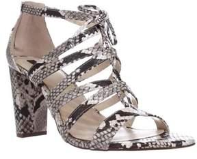 Alfani A35 Jaqui Lace Up Strappy Sandals, Natural Python.