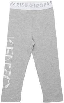 Kenzo Logo Printed Cotton Jersey Leggings