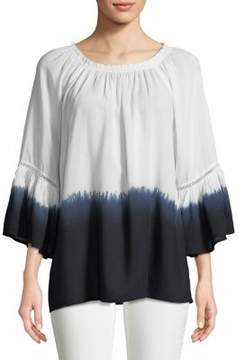Context Ombre Bell Sleeve Peasant Top
