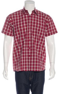 Carven Plaid Short Sleeve Shirt