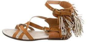 Henry Beguelin Suede Fringe Sandals
