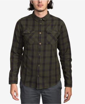 RVCA Men's Treets Plaid Button-Down Shirt