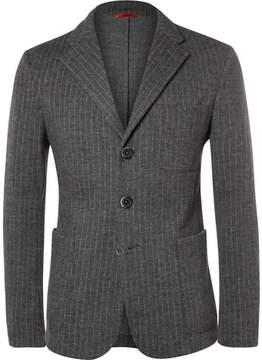 Barena Chalk-Stripe Wool And Cotton-Blend Jacket