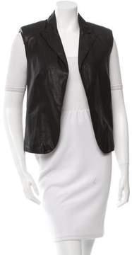 Bottega Veneta Peak-Lapel Leather Vest