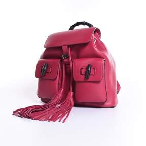 Gucci Zaino Bamboo Backpack, Petunia - RED - STYLE