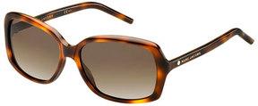 Marc Jacobs Rectangular Polarized Sunglasses, Tortoise