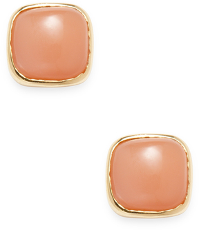 Artisan Women's Cushion-Cut Moonstone Stud Earrings