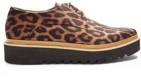 Stella McCartney Leopard-print platform derby shoes