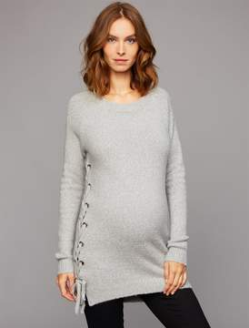 John & Jenn Pea Collection John + Jenn Lace Up Maternity Sweater