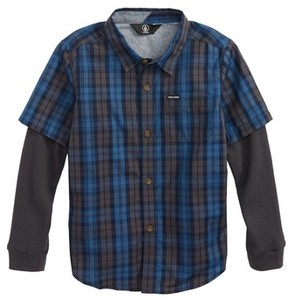 Volcom Toddler Boy's Ignition Layered Woven Shirt