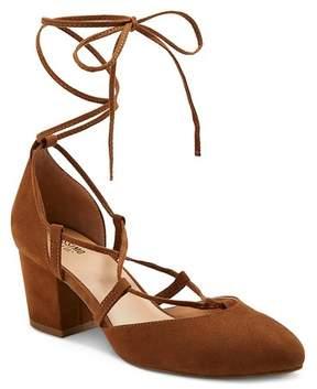 Mossimo Women's Floris Block Heel Lace Up Ghille Pumps