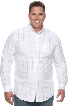 Croft & Barrow Big & Tall Regular-Fit Plaid Button-Down Shirt