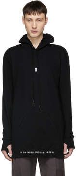 11 By Boris Bidjan Saberi Black Front Type Logo Hoodie