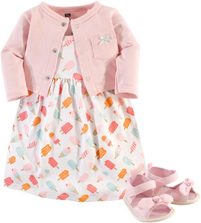 Hudson Baby Ice Cream Sleeveless Dress Set - Newborn & Infant