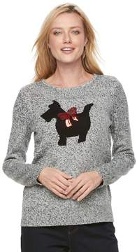 Croft & Barrow Women's Holiday Crewneck Sweater