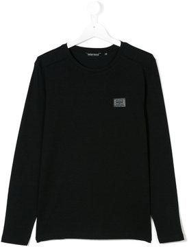 Antony Morato logo patch longsleeved T-shirt