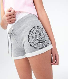 Aeropostale Faux Pearl Logo Fleece Shorts
