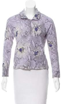 Blumarine Patterned Button-Up Cardigan