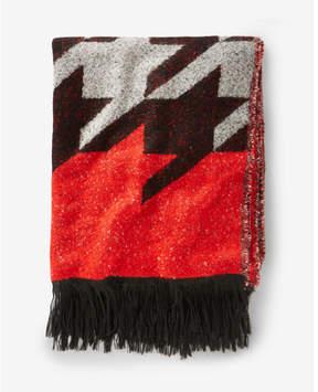 Express houndstooth blanket scarf