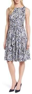 Anne Klein Malibu Bluffs Stretch Cotton Fit & Flare Dress