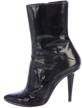 CNC Costume National Leather Pointed-Toe Ankle Boots