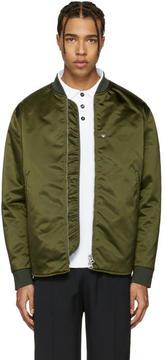 Acne Studios Green Mylon Bomber Jacket