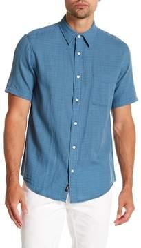 Faherty BRAND Ventura Gingham Short Sleeve Trim Fit Shirt