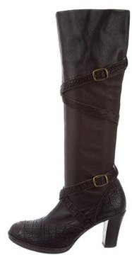 Henry Beguelin Embossed Mid-Calf Boots