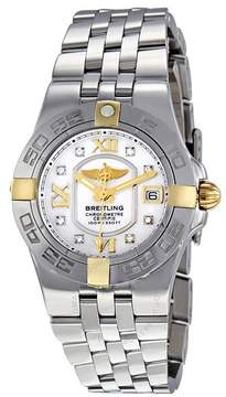 Breitling Galactic 30 Mother Of Pearl Diamond Dial Ladies Watch