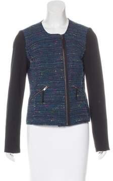 Ella Moss Zip-Up Tweed Jacket