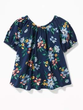 Old Navy Drapey Floral Scoop-Neck Swing Top for Toddler Girls