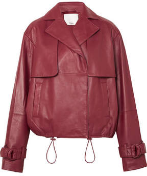 Tibi Leather Jacket - Red