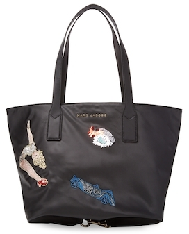 Marc Jacobs Vintage Collage Wingman Tote Bag - BLACK - STYLE
