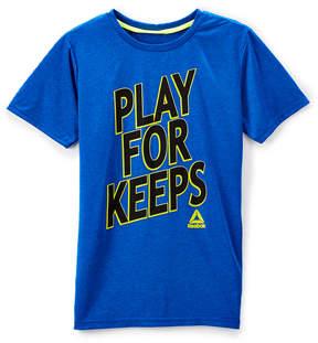Reebok Dark Blue 'Play for Keeps' Crewneck Tee - Toddler & Boys