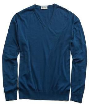 John Smedley Sweaters Sea Island Cotton Woburn Sweater in Indigo