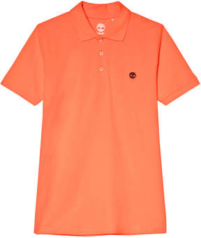 Timberland Kids Orange Logo Pique Polo