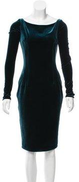 Emilio De La Morena Paige Velvet Dress