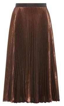 Christopher Kane Metallic silk-blend skirt