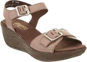 Munro American Women's Marci Leather Wedge Sandal