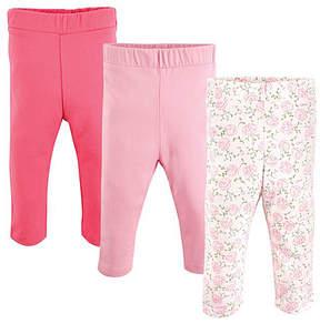 Luvable Friends Pink & White Floral Leggings Set - Infant