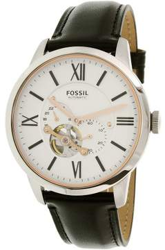 Fossil Men's Townsman ME3104 Silver Leather Automatic Dress Watch