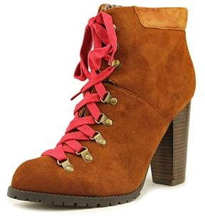 Luichiny Anna May Women Round Toe Suede Tan Ankle Boot.