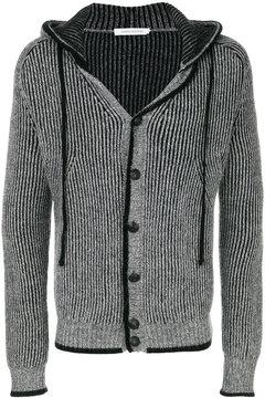 Pierre Balmain button front hooded cardigan