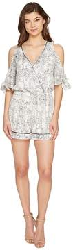 Adelyn Rae Lana Woven Printed Romper Women's Jumpsuit & Rompers One Piece