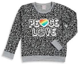 Flowers by Zoe Girl's Leopard Print Sweater