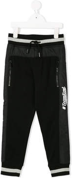 Karl Lagerfeld logo embroidered track trousers