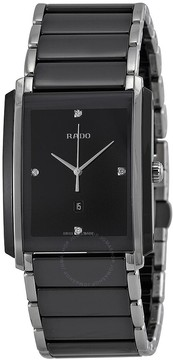 Rado Integral Jubile Two-Tone Black Ceramic Watch