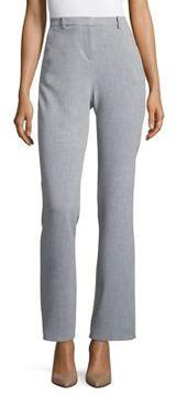 Ellen Tracy High-Rise Double-Weave Pants