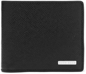 HUGO BOSS Signature Cross-Grain Leather Billfold Wallet