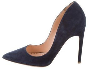 Rupert Sanderson Suede Pointed-Toe Pumps